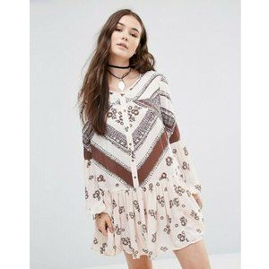 Free People From Your Heart Printed Dress XS US